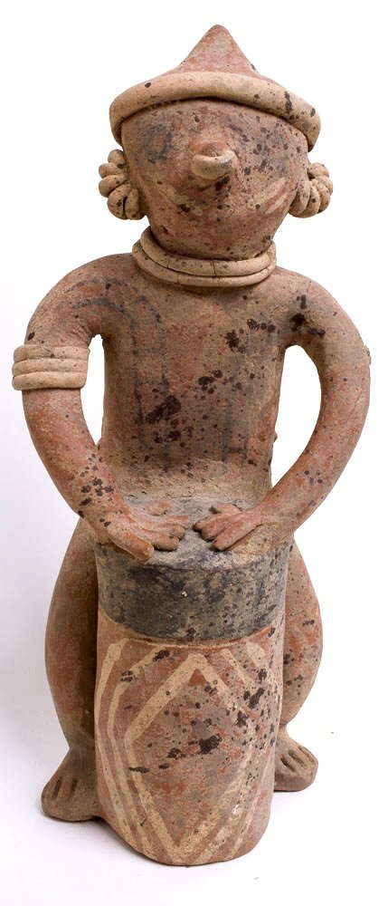Ancient Pre Columbian Nayarit Pottery Figure c.250 BC - 2