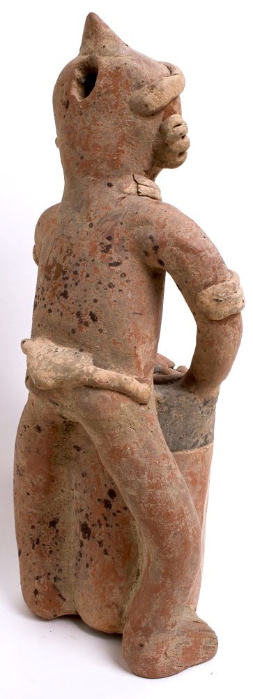 Ancient Pre Columbian Nayarit Pottery Figure c.250 BC - 3