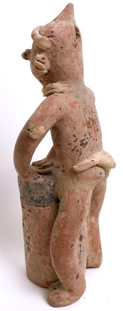 Ancient Pre Columbian Nayarit Pottery Figure c.250 BC - 4