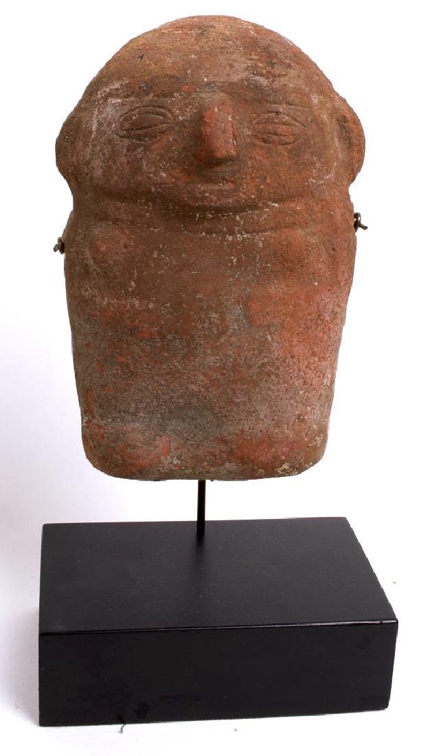 Ancient Pre-Columbian Hollow Terracotta Figure c.500 AD
