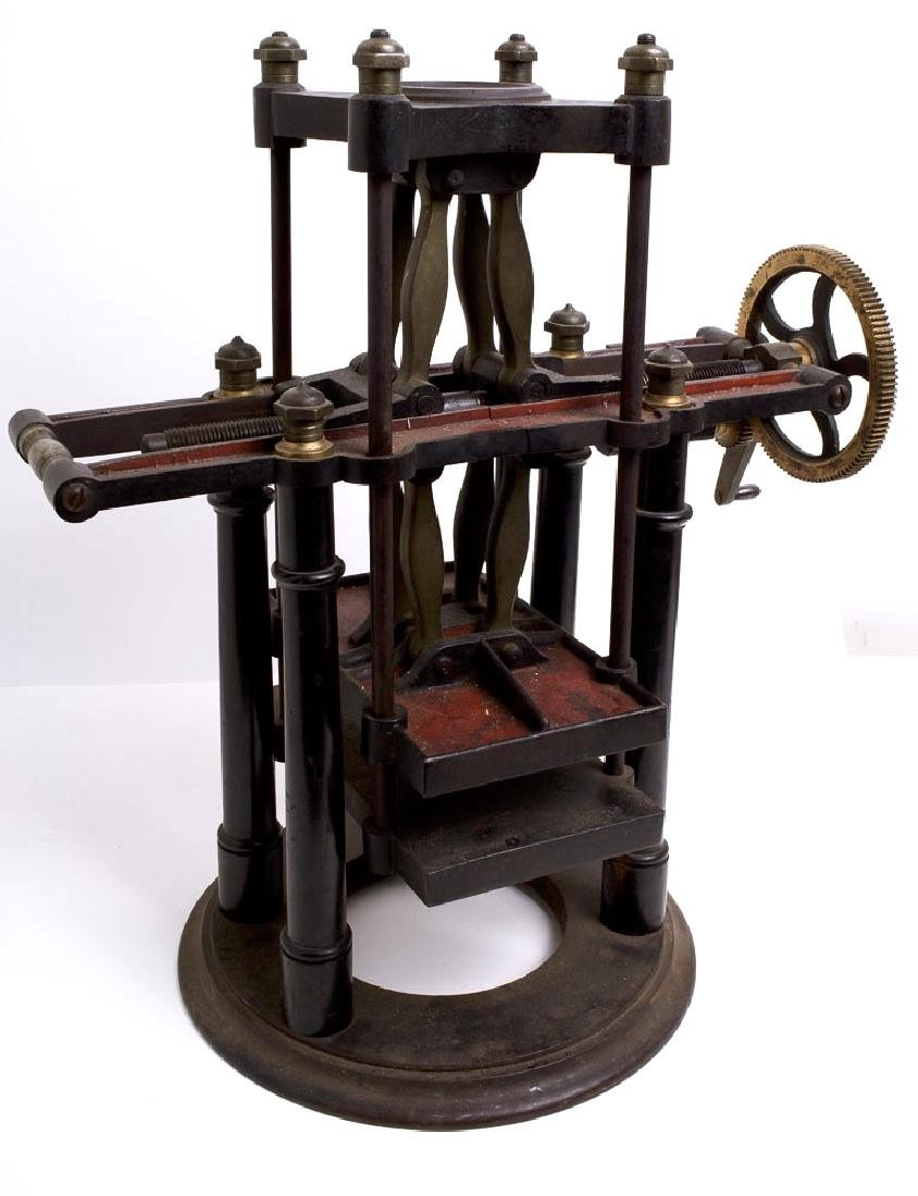 A Bronze Bell Lab Specimen Press Machine c.1800's