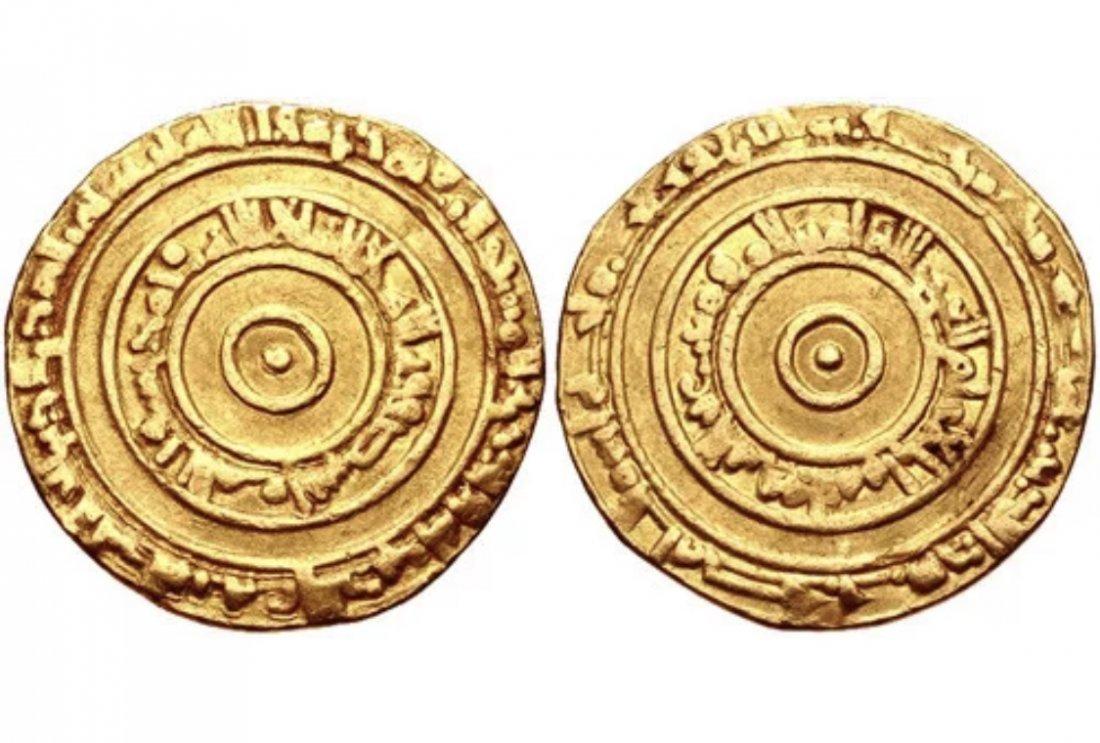 Ancient ISLAMIC, Fatimids. al-'Aziz billah. Gold Dinar