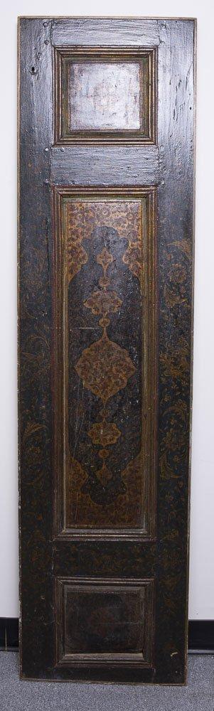 19th Century Persian Qajar Wood Door Panel