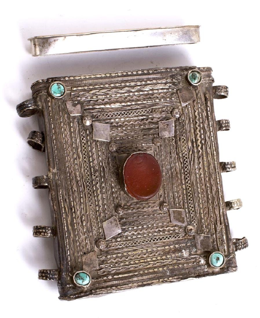 19th century Middle Eastern Silver Book Holder. Size 4