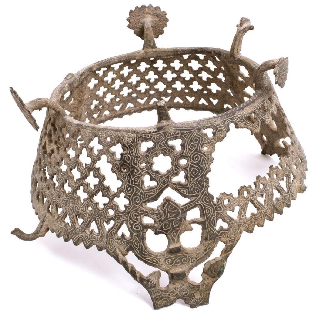 Rare Persian Seljuk Bronze brazier manqal c.12th cen AD