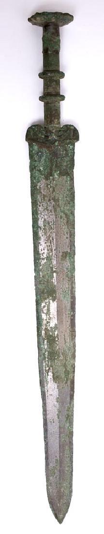 Ancient Archaic Chinese Bronze Sword c.7th century AD