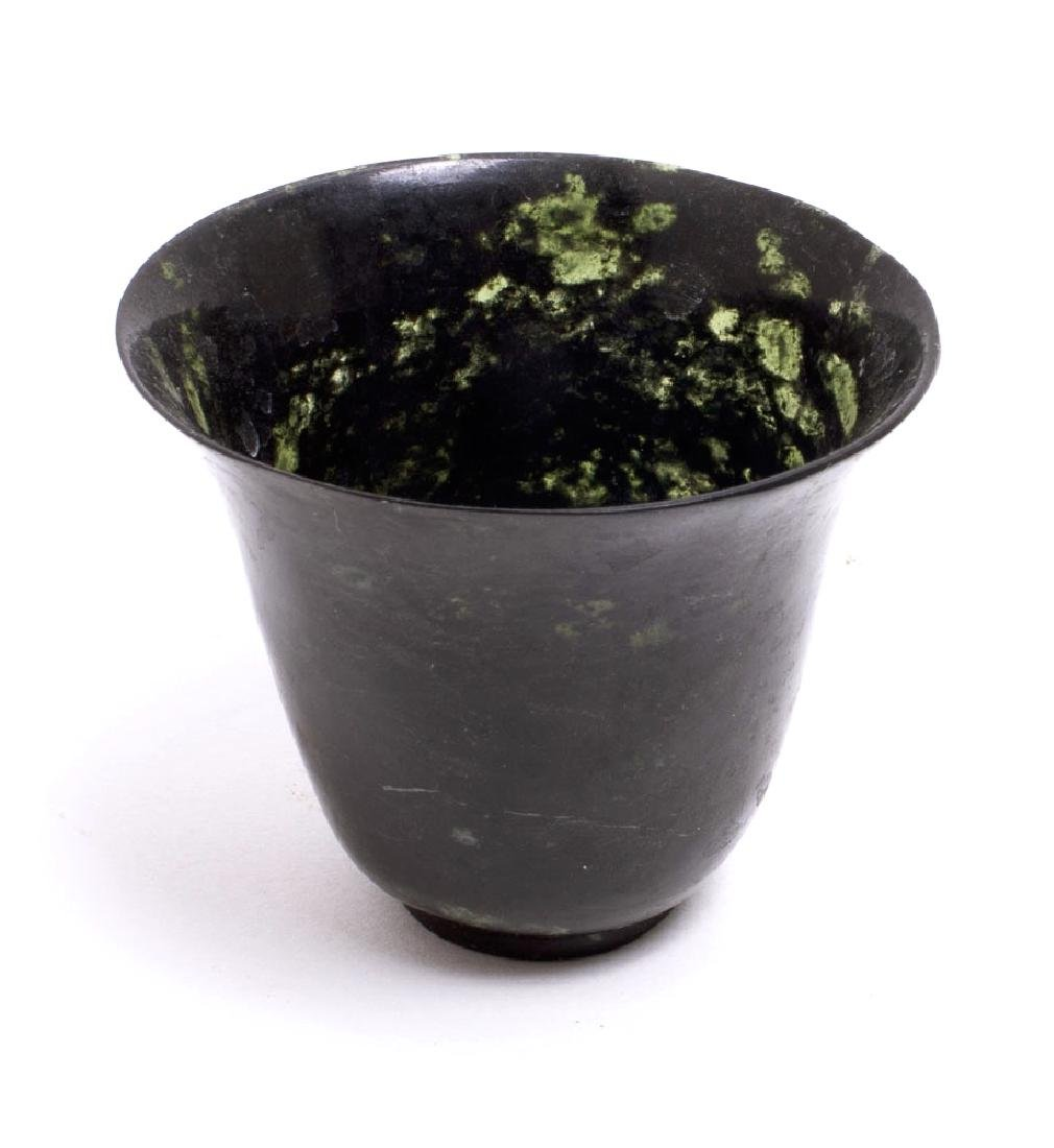 A Chinese Jade Footed Cup