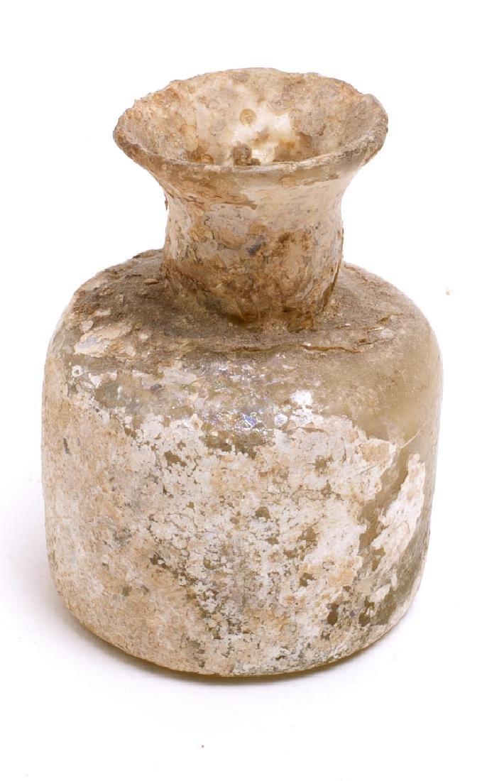 Ancient Islamic Glass Bottle c.8th century AD