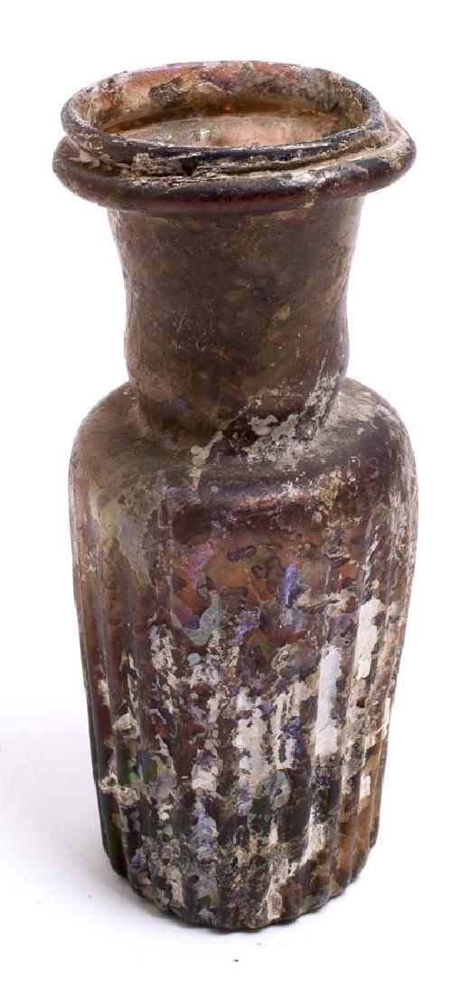 Ancient Roman aubergine Glass Bottle c.1st-2nd cent AD