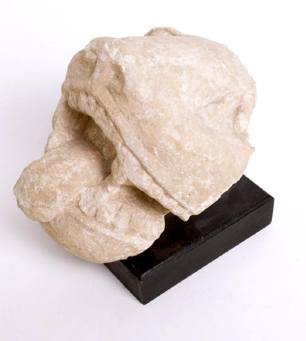 Ancient Roman Limestone Lion Head Fragment c.1st-2nd ce