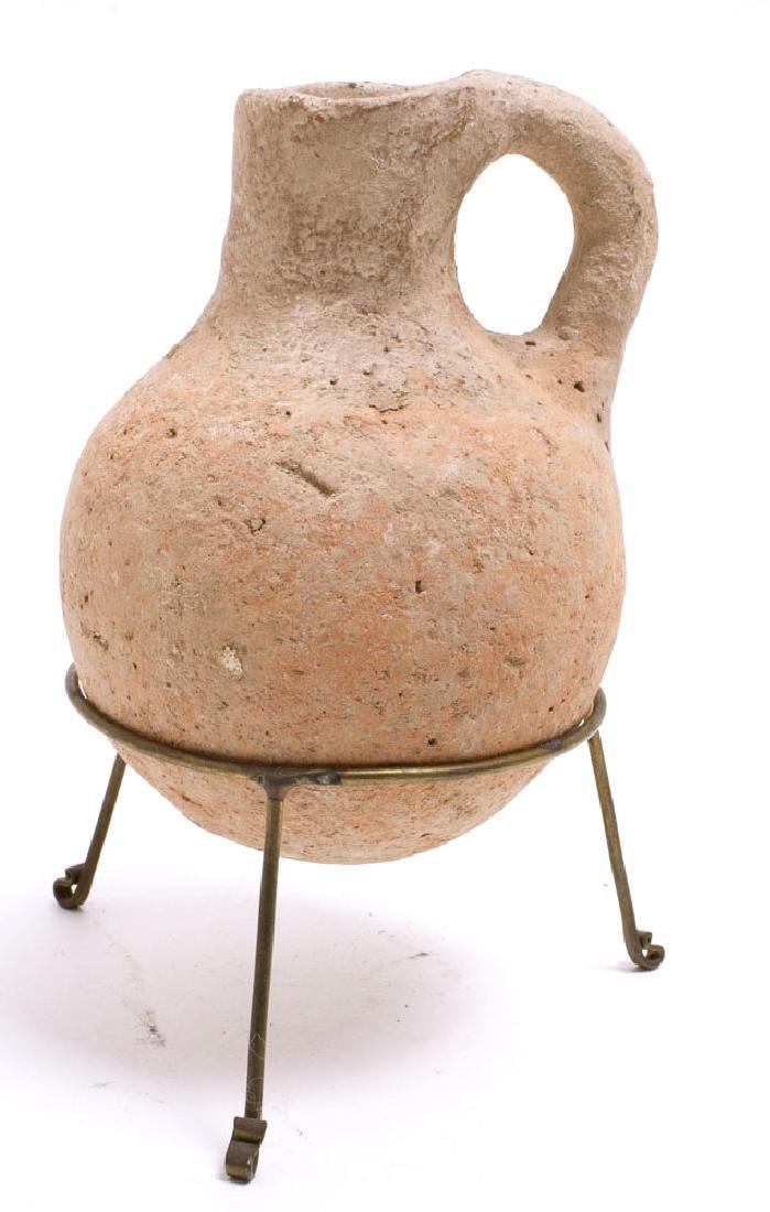 Ancient Holy Land Iron Age Pottery Jug c.1400 BC.