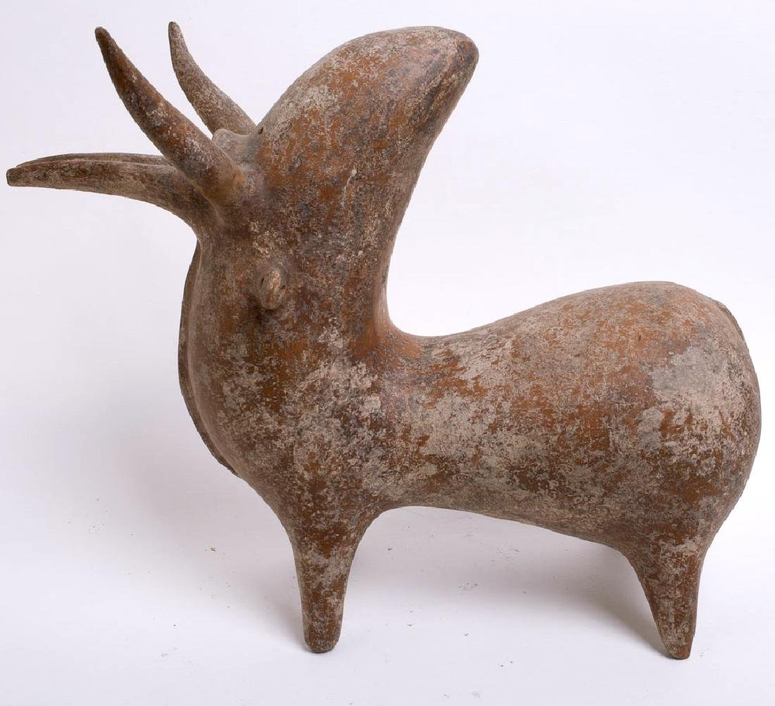 AMLASH STYLE TERRACOTTA FIGURE OF A BULL