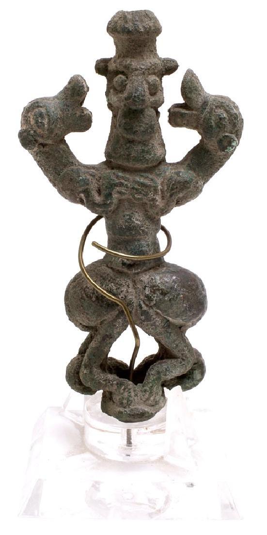 Ancient Near Eastern Luristan Bronze Master Of Animals
