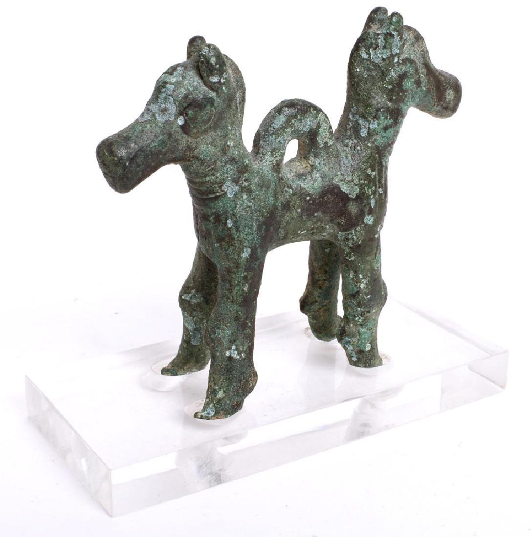 Ancient Luristan Bronze Animals Amulet c.1000 BC.