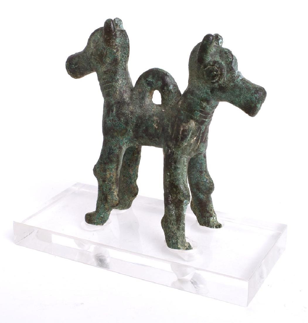 Ancient Luristan Bronze Animals Amulet c.1000 BC. - 2