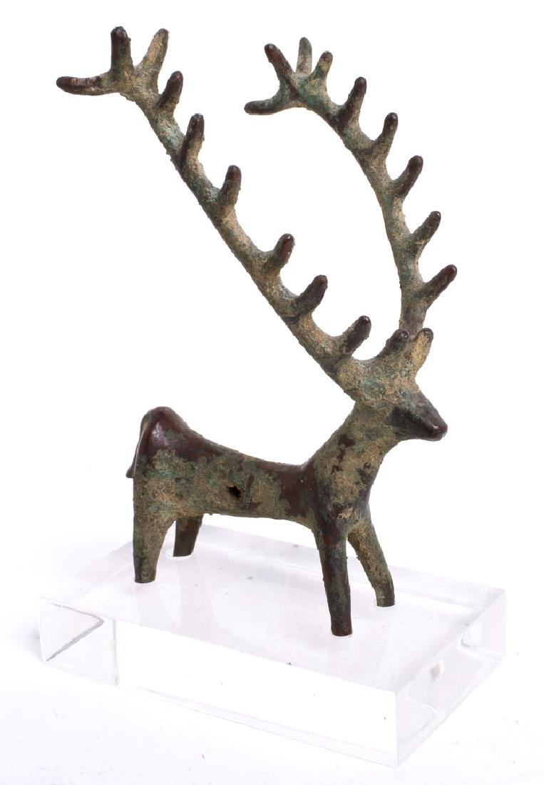 Ancient Near Eastern Luristan Bronze Deer c.1000 BC.