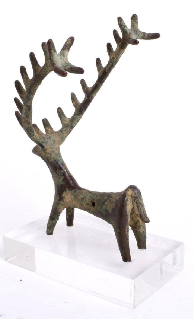 Ancient Near Eastern Luristan Bronze Deer c.1000 BC. - 2