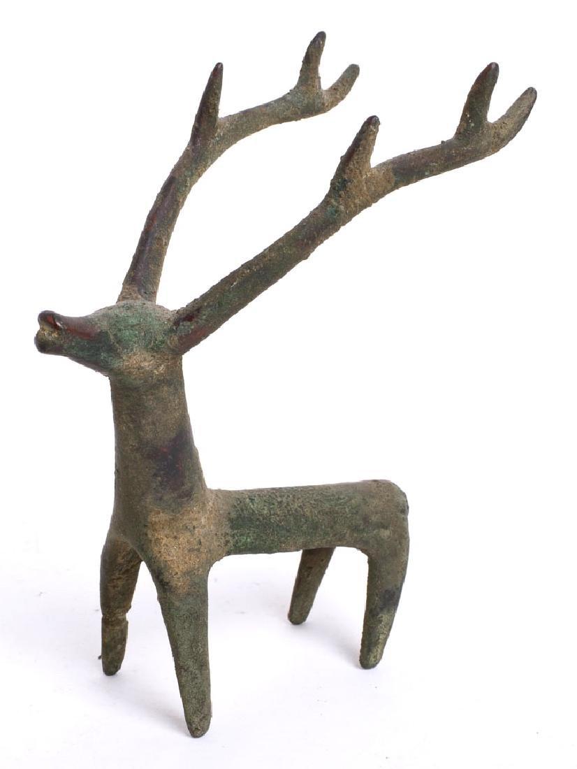 A Near Eastern Luristan Style Bronze Deer.