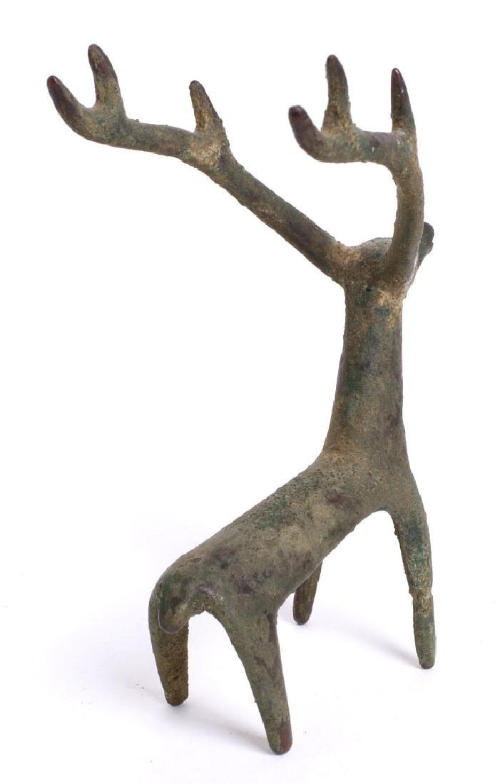 A Near Eastern Luristan Style Bronze Deer. - 2