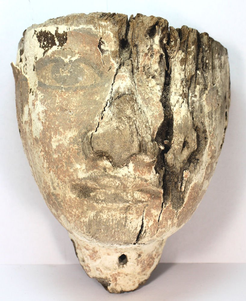 Ancient Egyptian Mummy Wood Mask c.635 BC