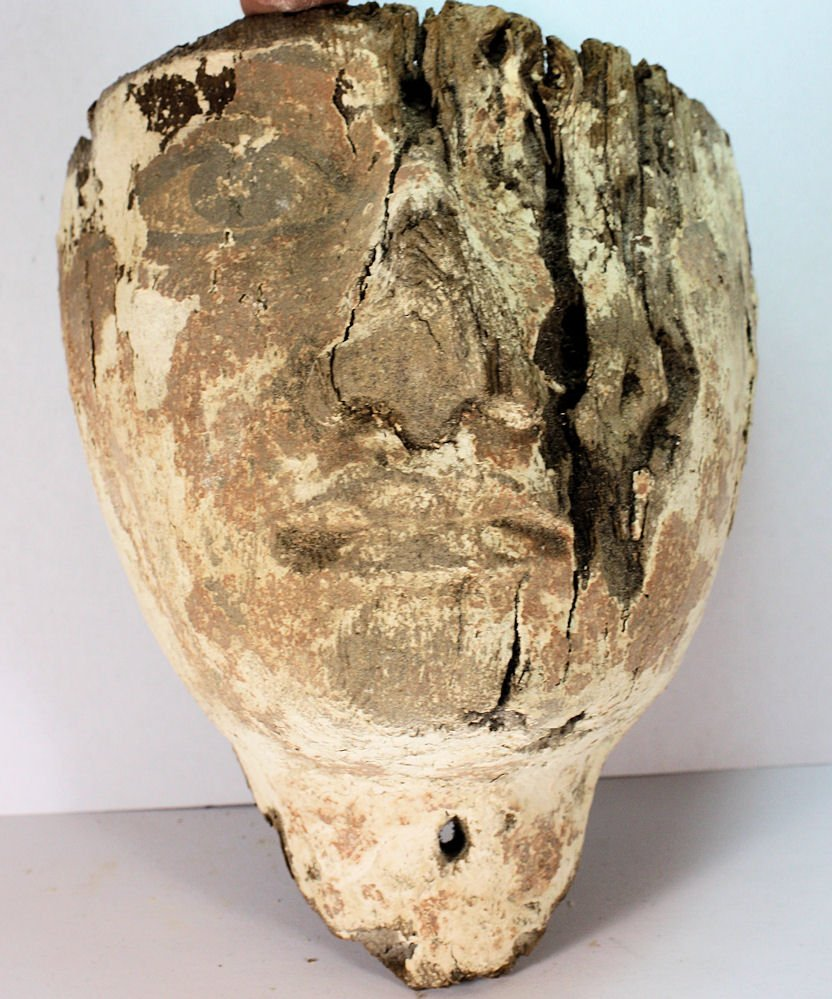 Ancient Egyptian Mummy Wood Mask c.635 BC - 5