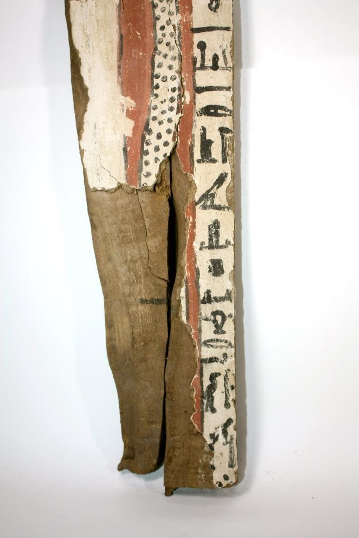 Ancient Egyptian Sarcophagus Wood Panel c.635 BC. - 3