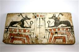 Ancient Egyptian Sarcophagus Wood Panel c635 BC