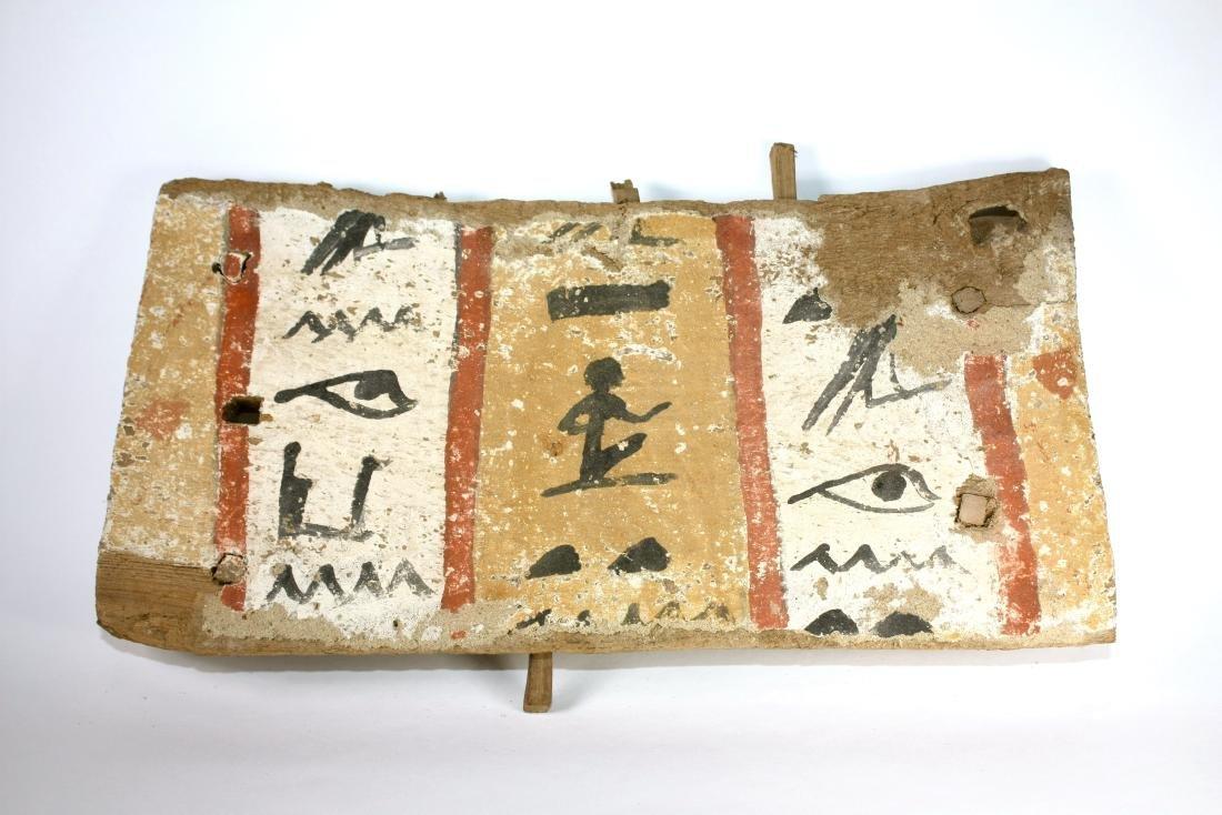Ancient Egyptian Sarcophagus Wood Panel c.635 BC.