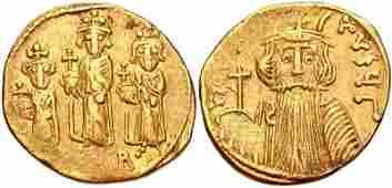 Ancient Byzantine Constans IIConstantine IV AV Solidus