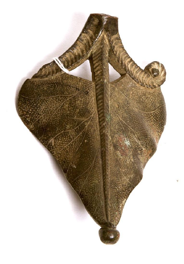 Ancient Roman Bronze Acanthus Leaf Ex Villa Giulia Coll