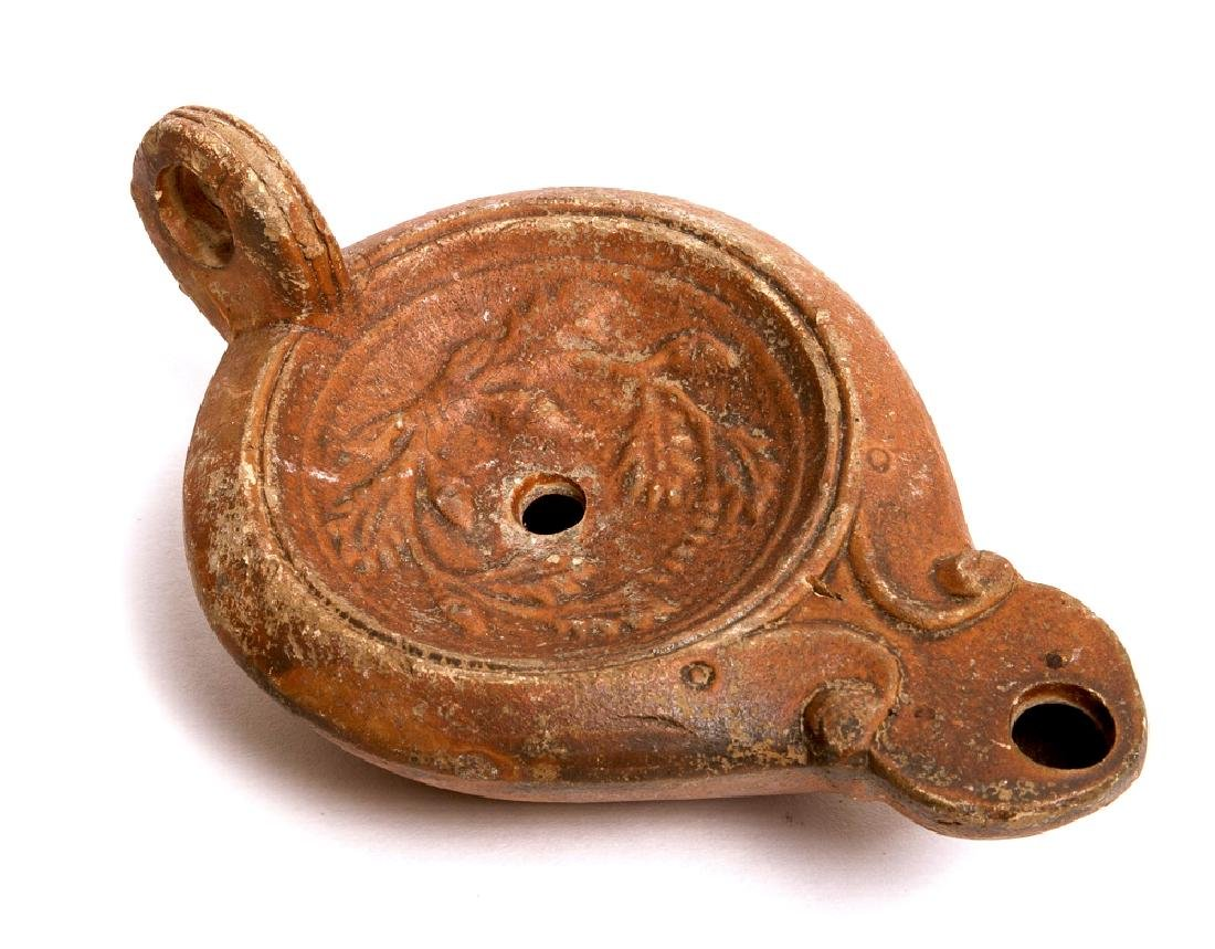 Ancient Roman Terracotta Oil Lamp c.2nd century AD.