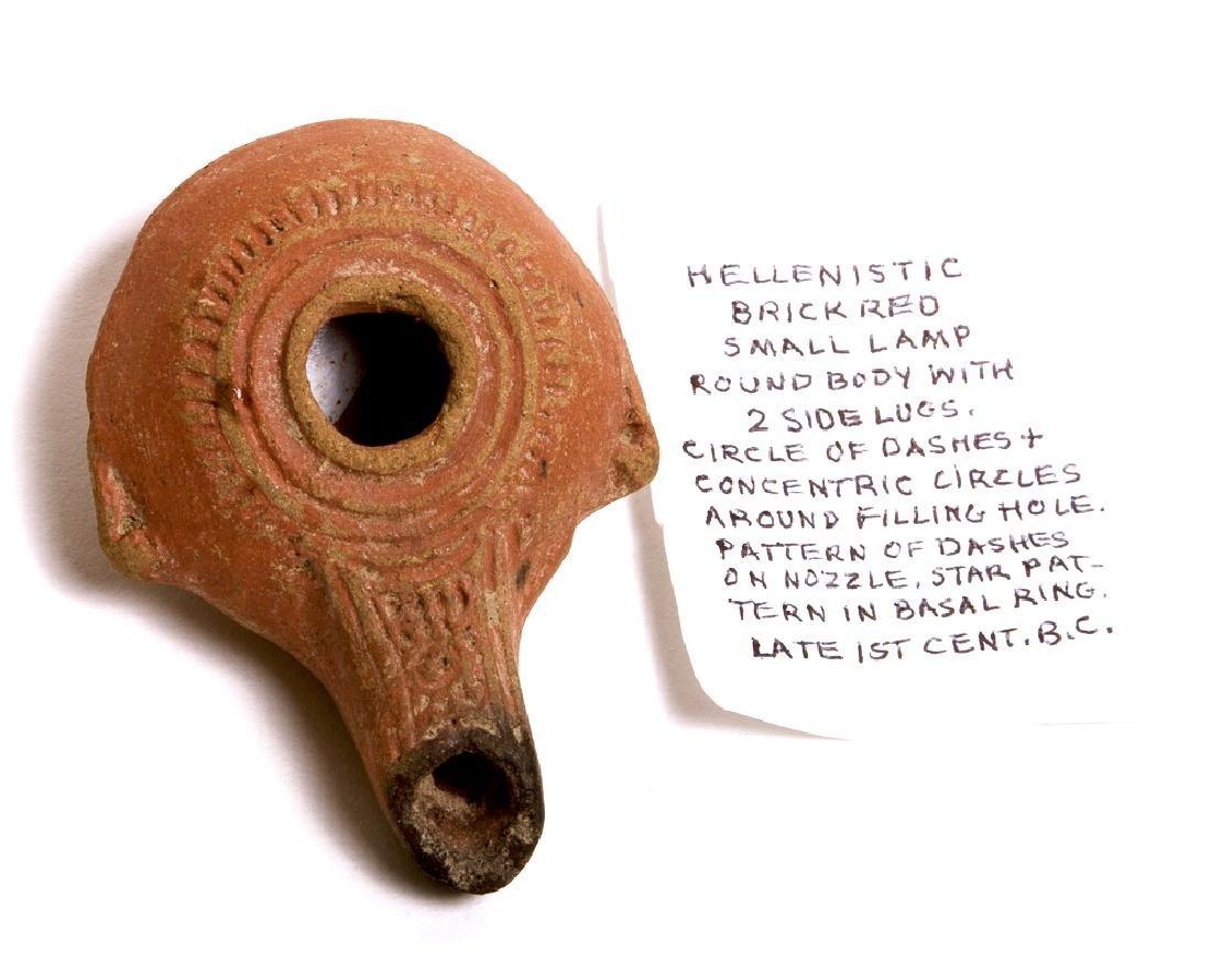 Ancient Hellenistic Terracotta Oil Lamp c.1st cent BC