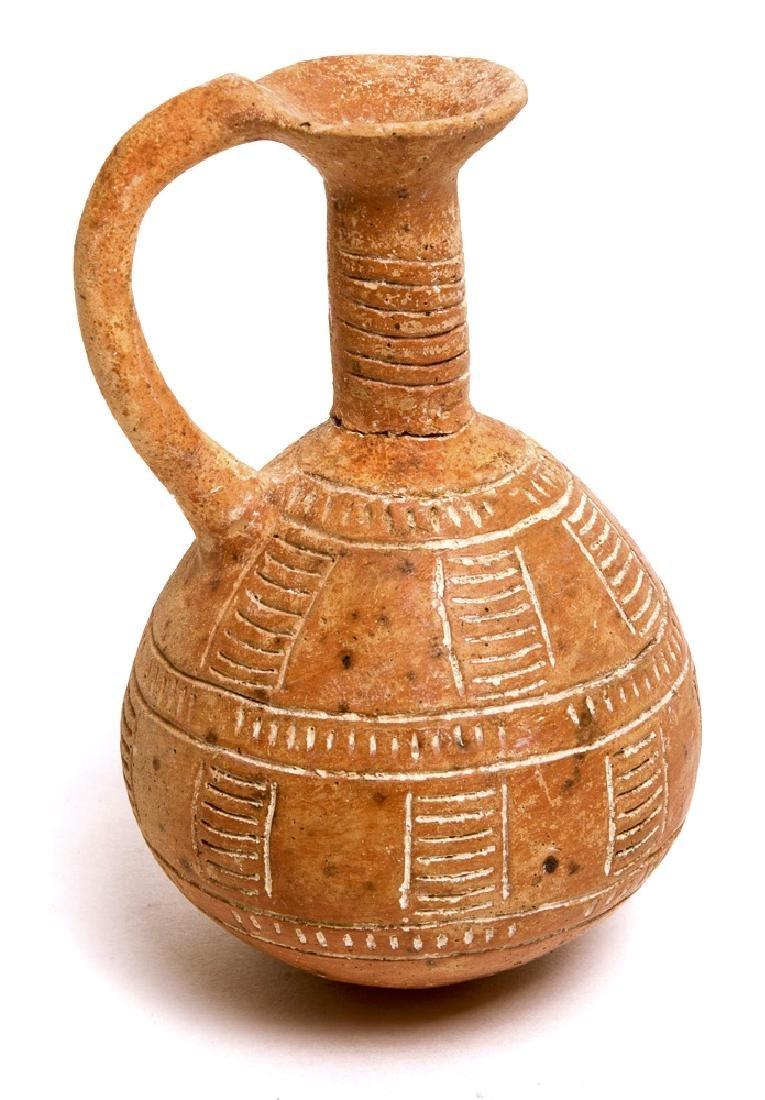 Ancient Cypriot Red Pottery Jug c.1000 BC