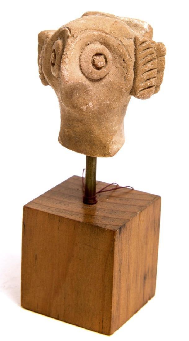 Ancient Cyprus Terracotta Female Head c.1650-1050 BC