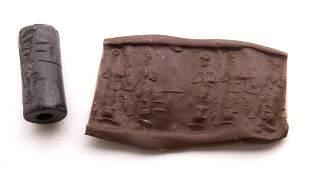 Ancient Old Babylonian Hematite Cylinder Seal c.1900 B