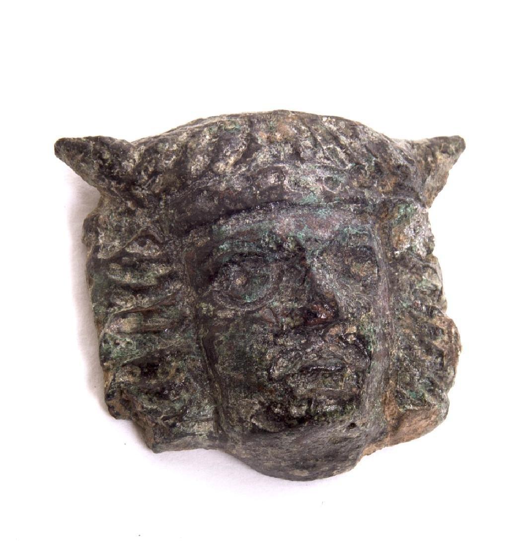 Ancient Roman Bronze Face of mercury c.2nd century AD