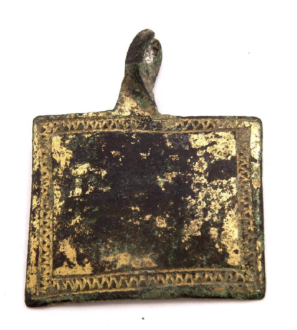 A Medieval Gilded Bronze Pendant c.13th century AD