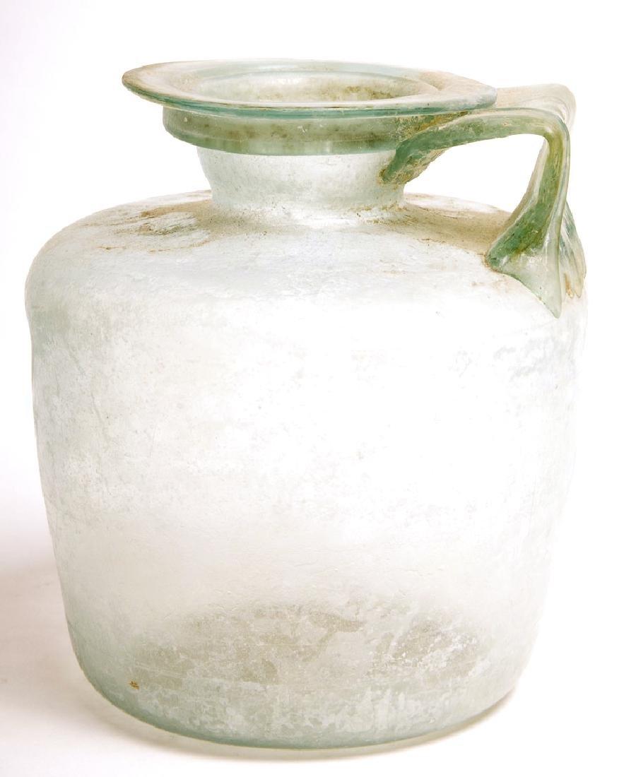 Ancient Roman blue Glass Jug c.2nd century AD.