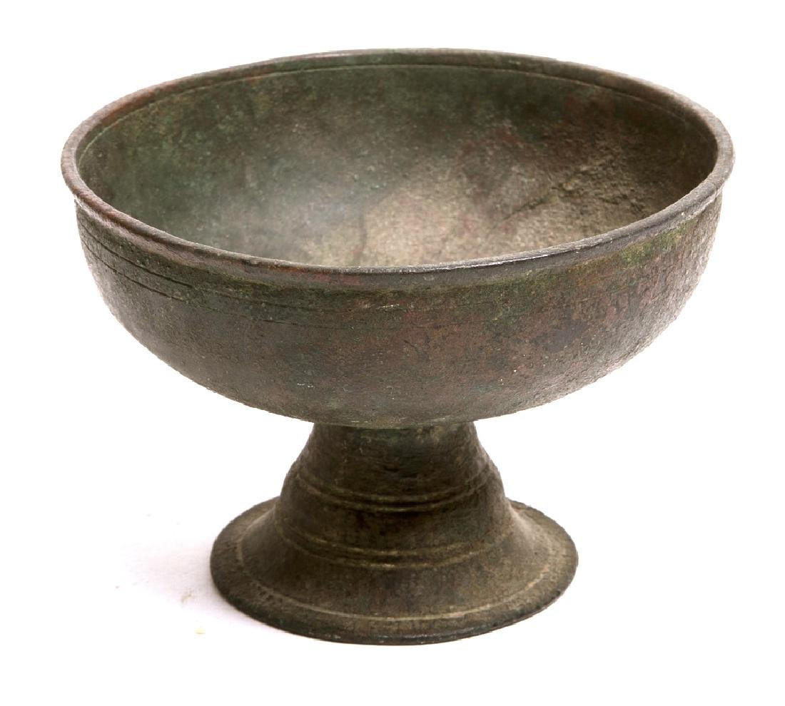 Ancient Near Eastern Footed Bronze Bowl c.6th cent BC.