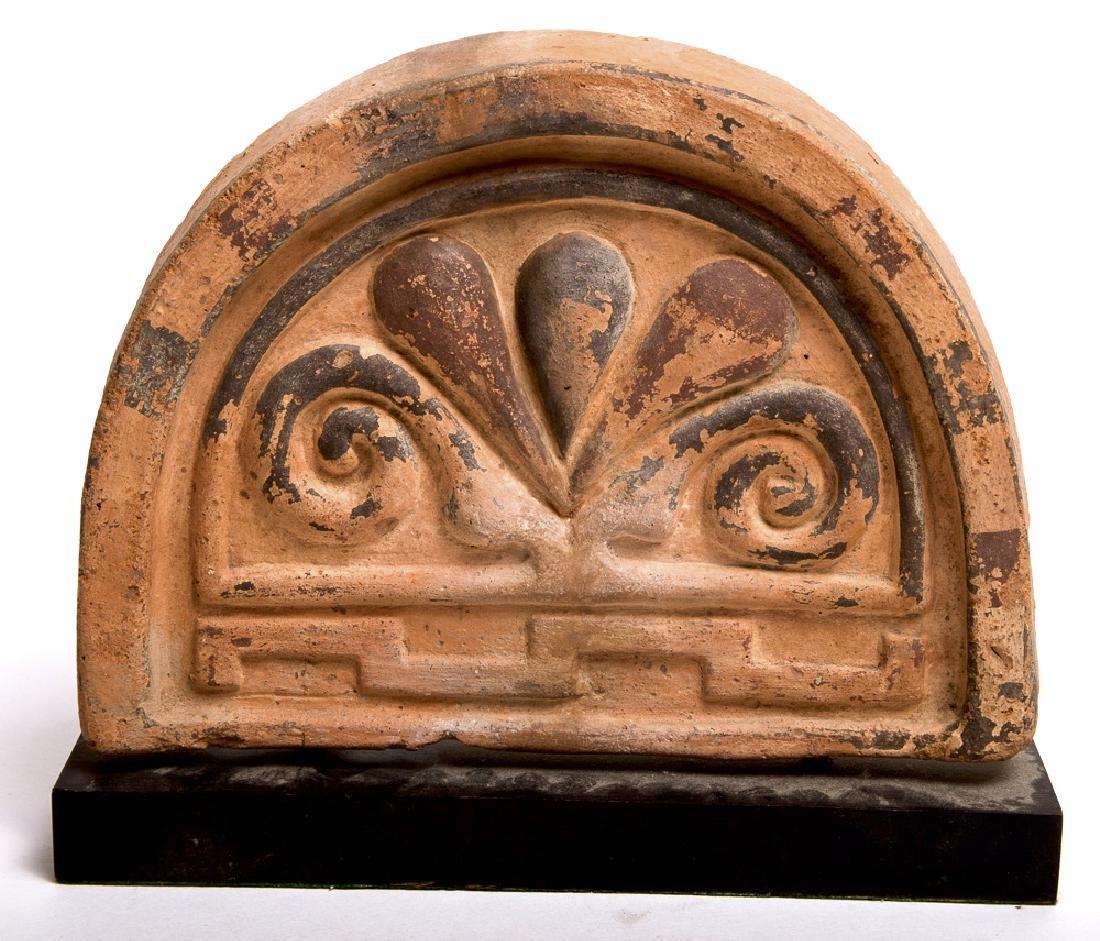 Large Ancient Etruscan Pottery Antifix c.6th century BC