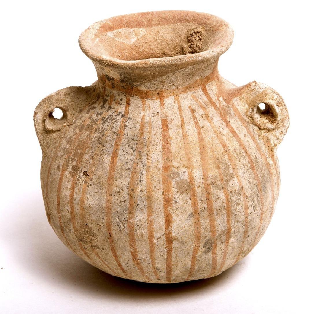Ancient Iron Age Pottery Jar c.1400 BC.