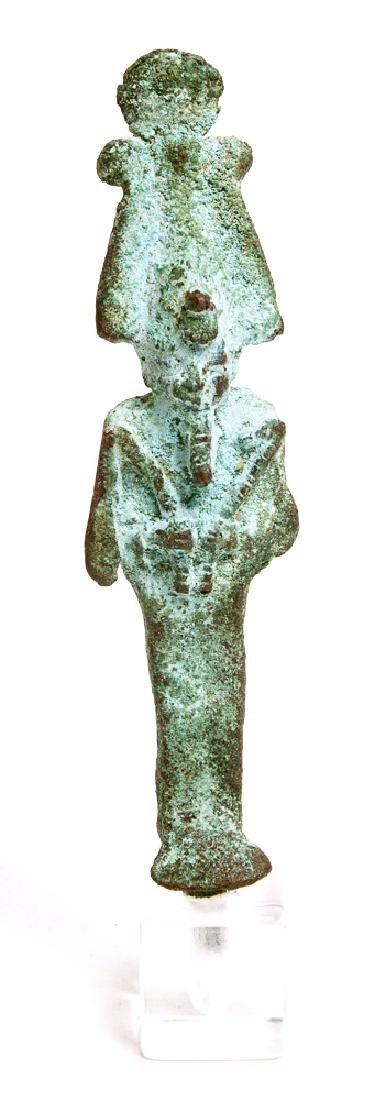 Ancient Egyptian Bronze figure Of OSIRIS c.300 BC.