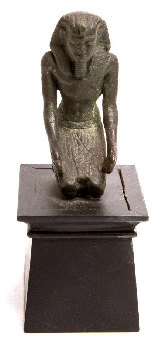 Ancient Egyptian Bronze Figure of Unknown King c.700 BC