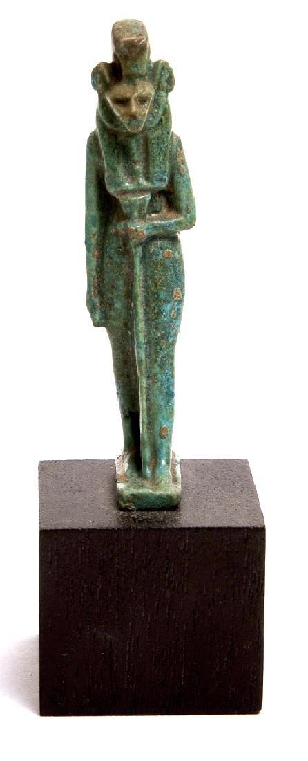 Ancient Egyptian Blue Faience Amulet of Sekhmet c700 BC