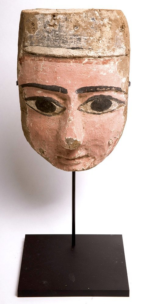 Ancient Egyptian Mummy Wood Mask c.635 BC.