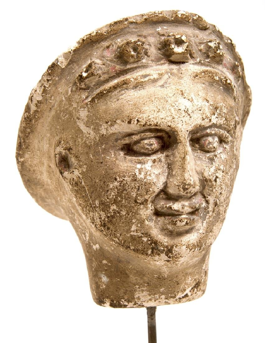 Ancient Hellenistic Limestone head of a woman c.3rd cen