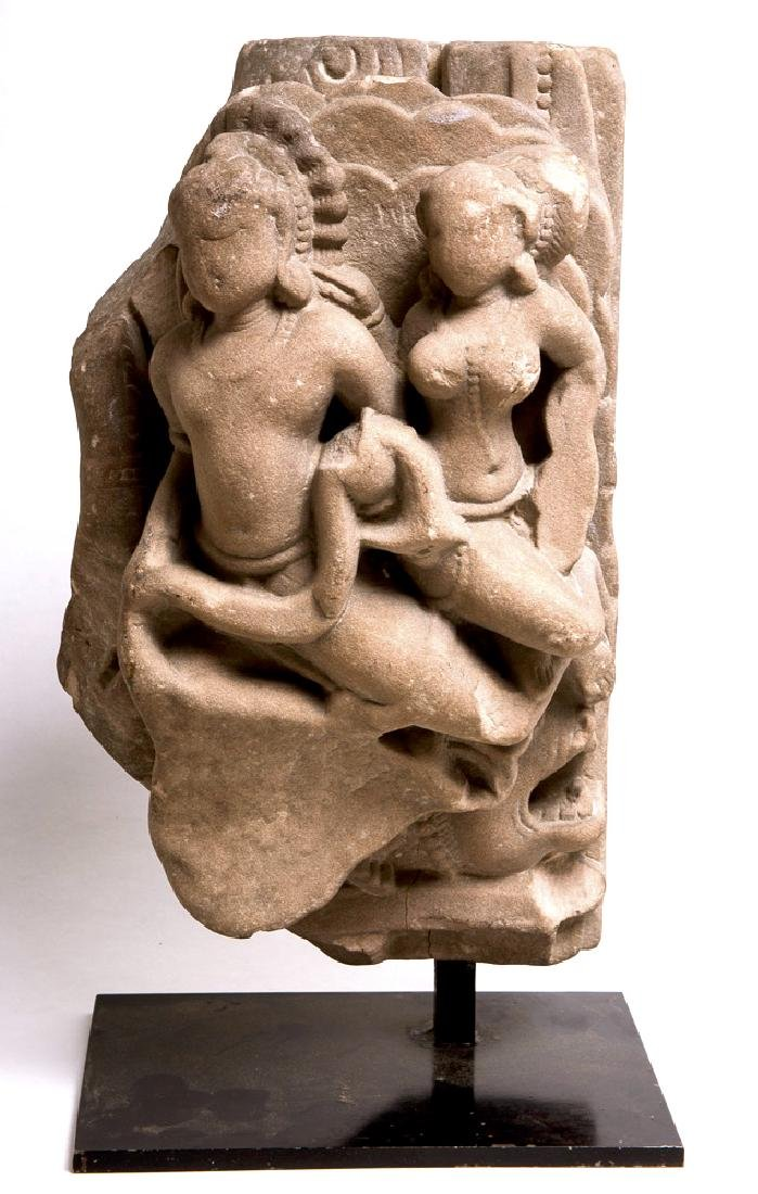 Indian Sandstone Stele with two deities c.10th-13th cen