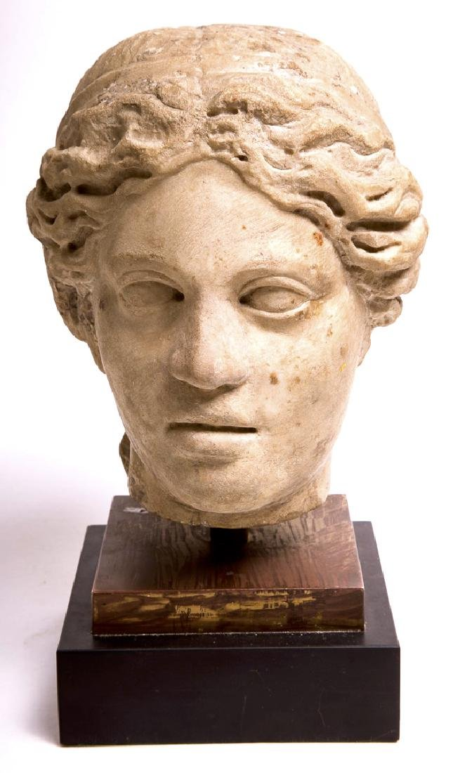 Ancient Roman Marble head of a goddess c.1st cent AD