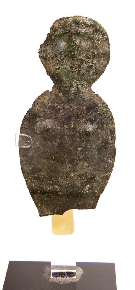 Ancient Near Eastern Stamped Copper Sheet Idol c.1000 B
