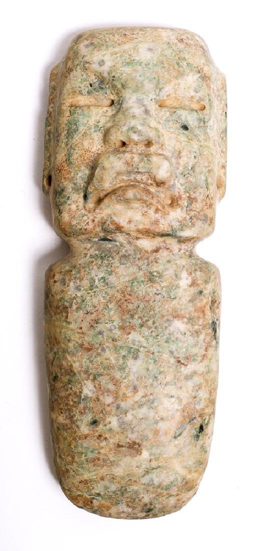 Pre Columbian Olmec celt Ceremonial stone Axe figure